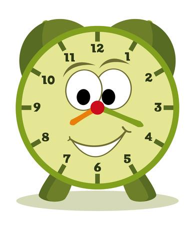 office clock: reloj de dibujos animados divertido para los ni�os Vectores