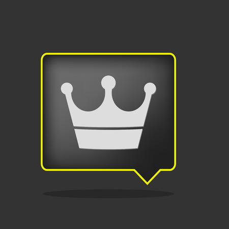 corona rey: icono de corona de ne�n amarillo negro