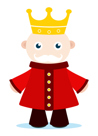 cartoon of old king Vector