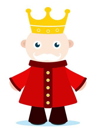cartoon of old king