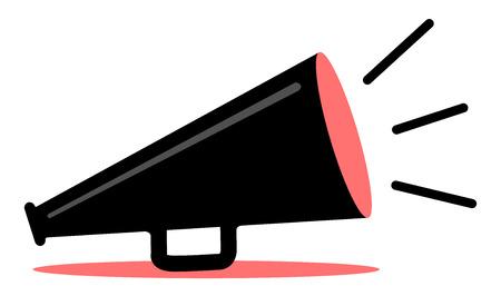 Retro rouge et noire mégaphone Vecteurs