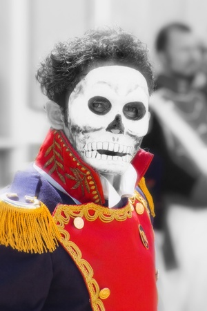 skull face in mexican tradition photo