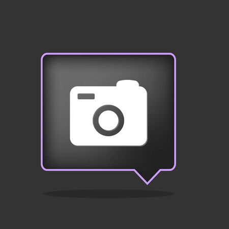 purple icon of camera for turism places Stock Vector - 8985385