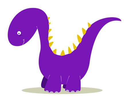 purple dinosaur for kids fun Vector