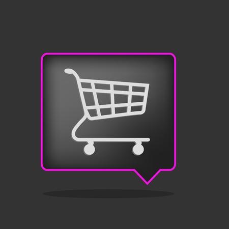 Purchase Order: 3D negro y p�rpura carro de compras Vectores