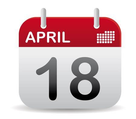 calendar: april calendar stand up with shadow Illustration
