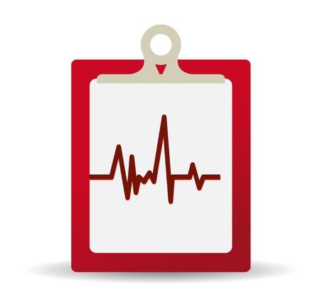 빨간색 의료 기록 클립 보드 일러스트