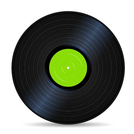 green vinyl record vintage sound stuff Vector
