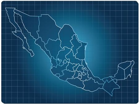 regions': blue dark map of mexico