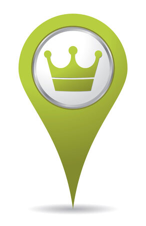 green location crown icon Imagens - 9458358