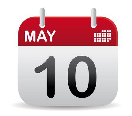 calendar: red march calendar stand up