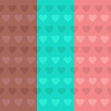 grunge background: cute hearts background tile Illustration