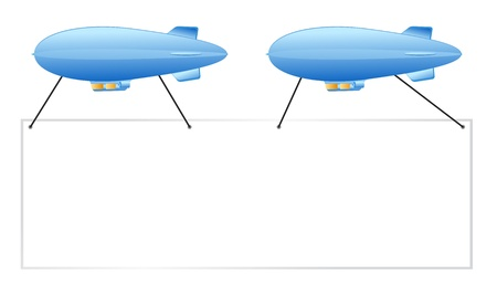 blue pair of sign blimps put your ad here