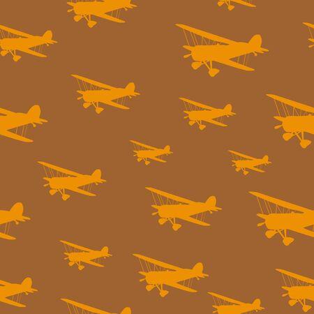 sameless vintage biplanes Vector