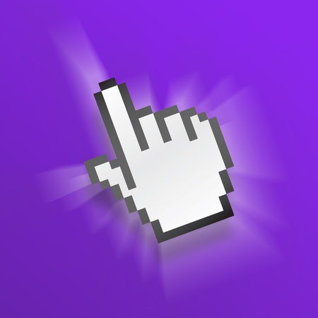 mouse hand icon in purple Stock Photo - 9731948