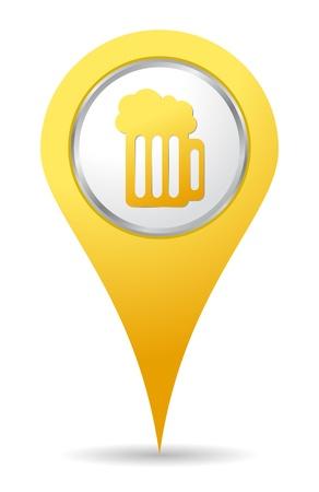 adresbalk het pictogram met bier tekening Stock Illustratie