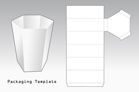 verpakking sjabloon een geval met zes zijden