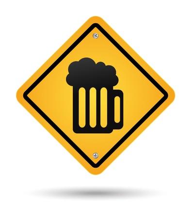 beer yellow sign  イラスト・ベクター素材
