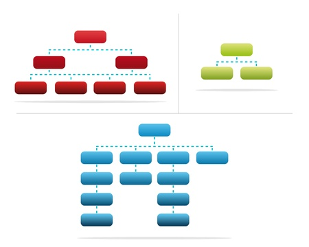 set of diagrams of company structure Vector
