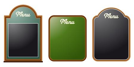 set of three chalkboard menues