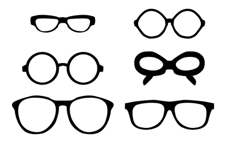 occhiali da vista: occhiali vintage retr� Vettoriali