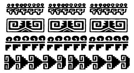 tribu: blancos y negro glifos aztecas de M�xico