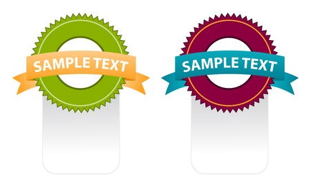 color set of ribbons for put your text Vector