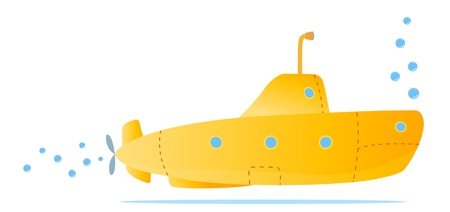 yellow submarine for kids fun Stock Vector - 10255650