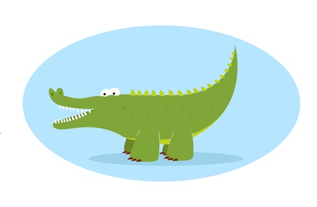 green alligator character Vector