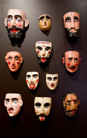 set of mask of men, in mexico photo