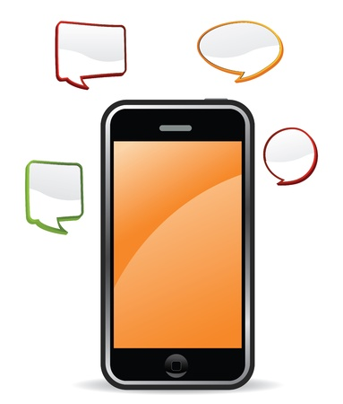 wireless communication: orange chat mobile phone