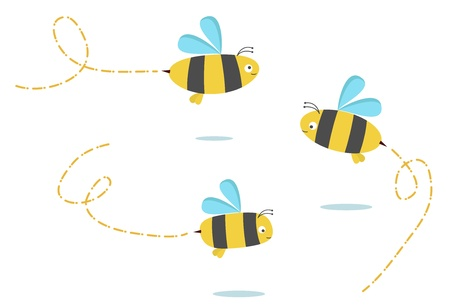 set of three color bees Stock Vector - 10554860