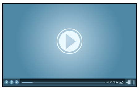 Lecteur vidéo pour le web bleue Banque d'images - 10713568