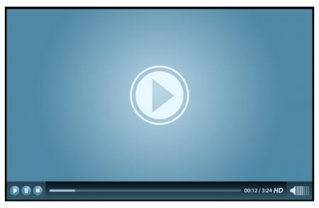 web 用の青のビデオ プレーヤー