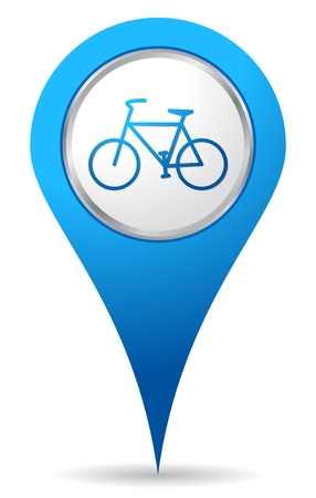 biking: blue bike location icon