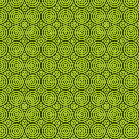 Naadloze: groene cirkel textuur, Aziatische stijl