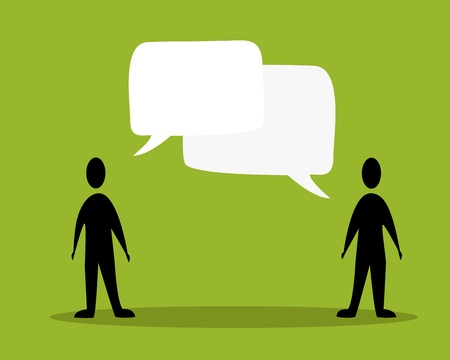 talk people concept in green background Vector