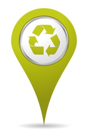 green location recycling icon 矢量图像