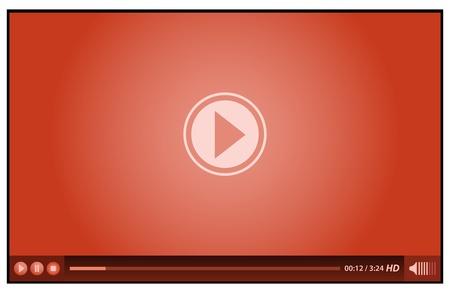 メディアのための赤のビデオ プレーヤー