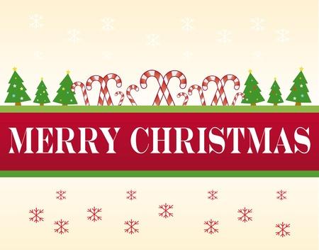 Weihnachten banner, mit Merry Christmas Text Standard-Bild - 11137165