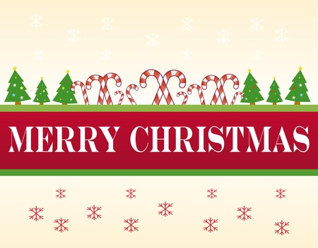 xmas banner, with merry christmas text Stock Vector - 11137165