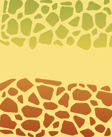 green and brown turtle skin texture Vector