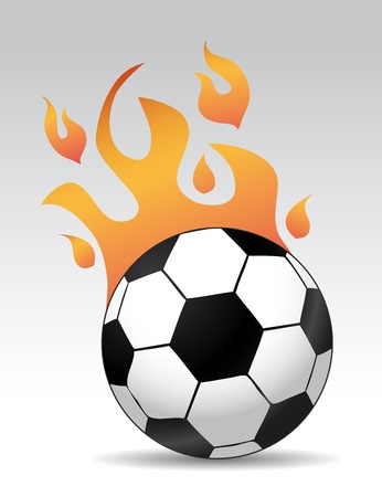soccerball: 3d soccer ball burning