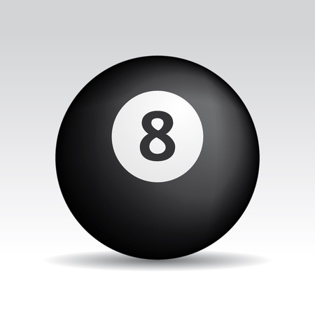 eight ball met realistische schaduwen Stock Illustratie