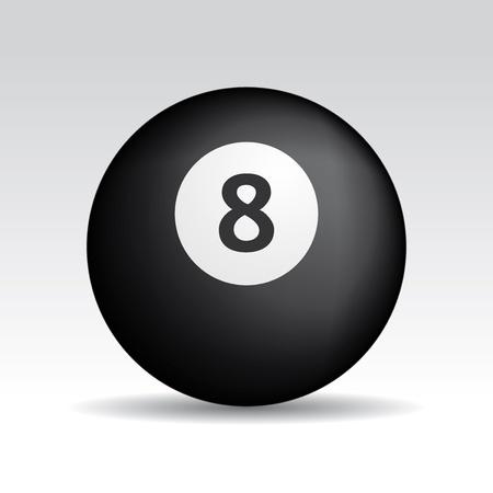 bola ocho: ocho bolas con sombras realistas