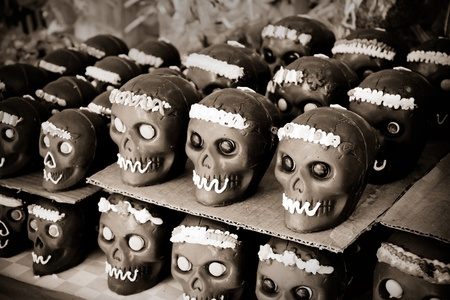 set of chocolate skull, dia de muertos photo