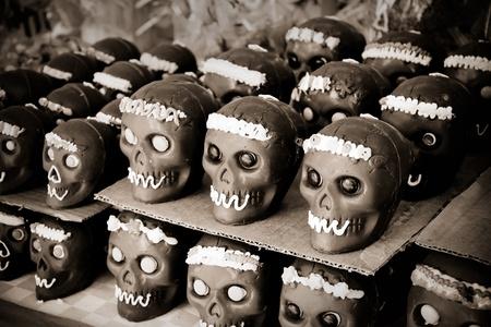 set of chocolate skull, dia de muertos photo