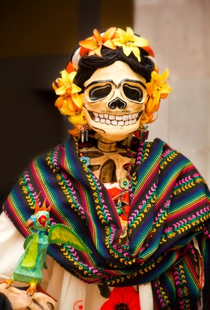 mexican folklore: woman skeleton, catrina