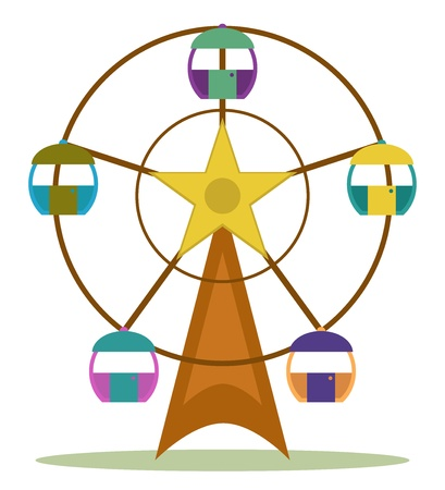 color ferris wheel  Vector