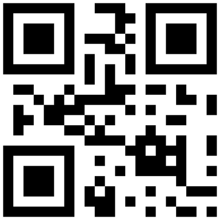 quick response: qr code with love word Illustration